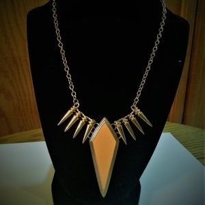 Halloween costume accessory necklace spikes/enamel